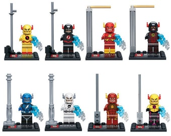 Lote de 8 Figuras Lego The Flash Ray Velocity customized