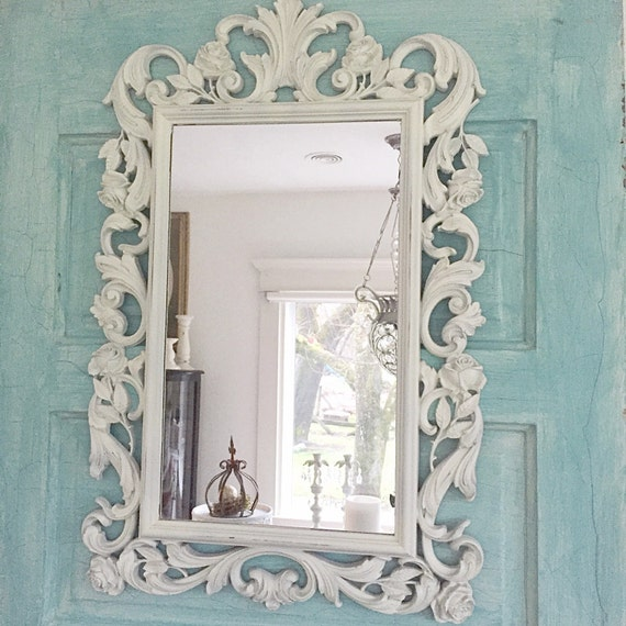 nursery mirror white shabby chic mirror ornate baroque 20338