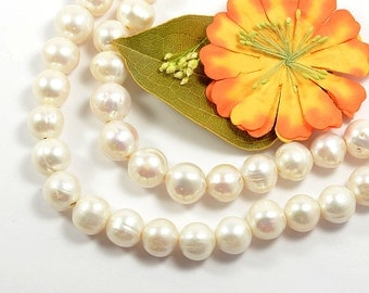 13mm to 15mm, Genuine Pearl, Freshwater Pearl, Cultured Pearl, Natural White, High Luster Pearl, 2.5 mm Hole, RETAIL -10 PCS/ order