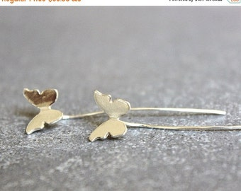 SUMMER SALE Butterfly earrings, Silver butterfly earrings, sterling silver earrings, butterfly stud earrings, butterfly jewelry