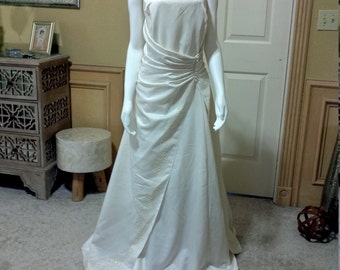 Art deco wedding dress etsy lenovia ivory maxi bridal gownsimple wedding dresselegant wedding dressart deco junglespirit Gallery