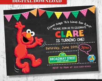 Elmo Invitation. Girls Elmo Printable Invitation. Girls Printable Invitation. Sesame Street Invitation. Elmo and Dorothy Invitation. Elmo