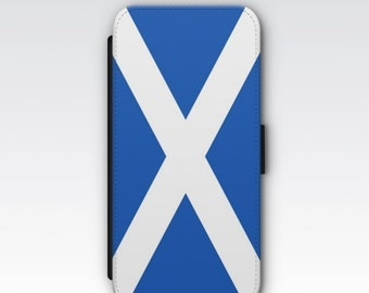 Wallet Case for iPhone 8 Plus, iPhone 8, iPhone 7 Plus, iPhone 7, iPhone 6, iPhone 6s, iPhone 5/5s -  Flag of Scotland Saltire phone case