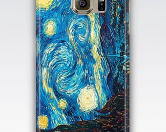 Samsung S6 Case, S6 Edge Case, S7 Case, S7 Edge Case, S5 Case, S4 Case, Samsung Galaxy S3 S4 S5 Case - The Starry Night by Vincent Van Gogh