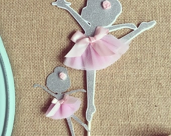 Ballerina cake topper, dancer cake topper, first birthday party decor
