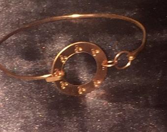 Copper Bangle w/ Triple Goddess Symbol Designs