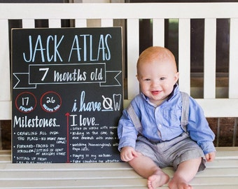 Monthly Baby Chalkboard
