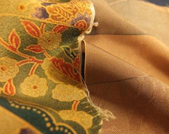 Vintage kimono silk fabric-2 pcs #7292