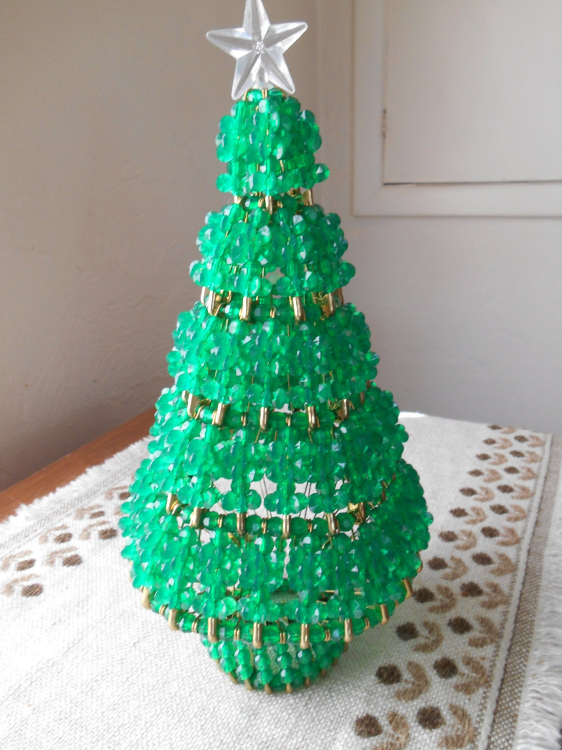 Beaded christmas tree safety and beads make a lovely