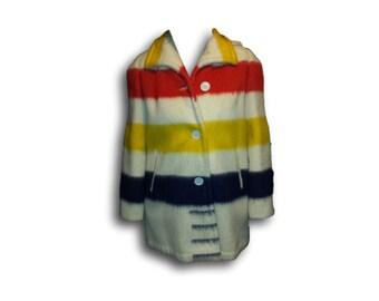 SALE PRICE! Hudson Bay Blanket Coat With Hood - Woolmaster Blanket Jacket