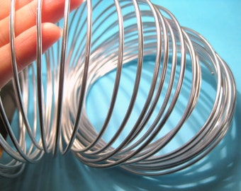 5 Ft Bright Silver Plated Aluminum Wire 2mm 12 Gauge Beading Wire