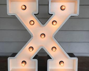 Vegas Boneyard Handmade X Letter Light