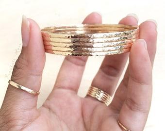 Plain 14k Gold Filled or Sterling Silver Bangles - Bangles - Plain Bangles - Stacking Bangles - Gold Bangles - Silver Bangles