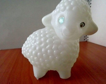 "Vintage soviet plastic toy ""lamb"". Made in the USSR."