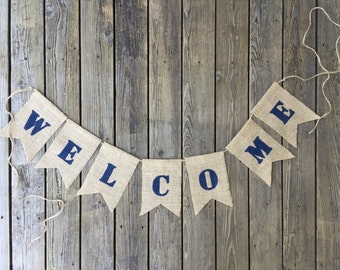Burlap Welcome Banner