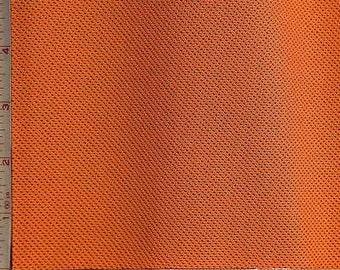 "Light Orange Mesh Knit Fabric 2 Way Stretch Polyester Silicon 6 Oz 58-60"""