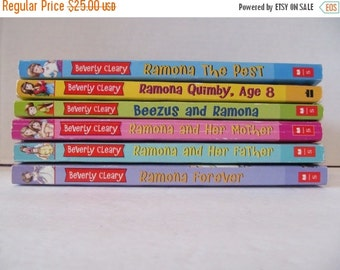Beverly Cleary Books - Beezus and Ramona- set of 6 Books - Ramona the Pest, Beezus and Ramona, Ramona Forever