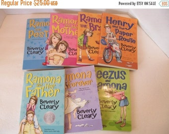 Beverly Cleary Ramona Books - Set of 7 Books