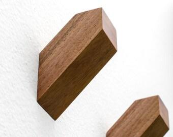 Walnut Wall Hooks - Functional Wall Decor - Designed in Europe