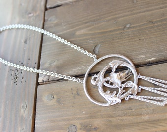 Vintage Trifari Dragon Statement Necklace