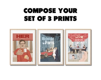 Any 3 you choose - Movie Posters set - Prints A3