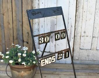 Vintage Metal Bowls Score Board - Garden Ornament