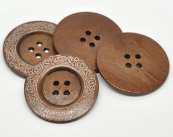 "10 Large Wood Button 2 3/8"" Wood Button Wholesale Bulk Button Extra Large Button Wooden Button Sewing Button Craft Buttons Wooden Buttons"