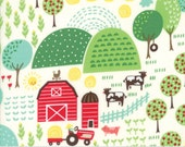 Farm Fun Fabric, #20531-11, Moda Fabrics, Novelty Prints, Animal Fabric, Fabric for boys, Animal fabric, Farm Fabric