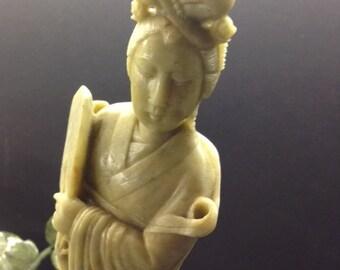 Carved Jade Kwan Yin Figure