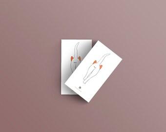 "Carte Postale ""Minou"" - Illustration"
