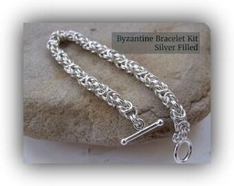 Bracelet Kit - Byzantine Chainmaille (Silver Filled)