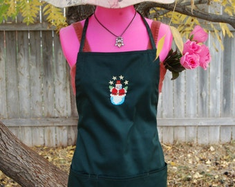 Snowman Apron with Stars