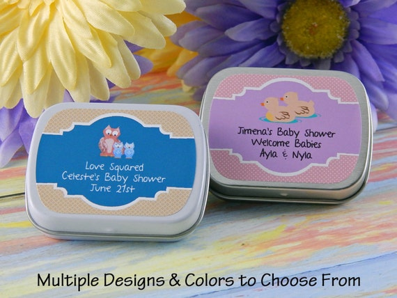 twin baby shower favors twins personalized baby shower favors mint