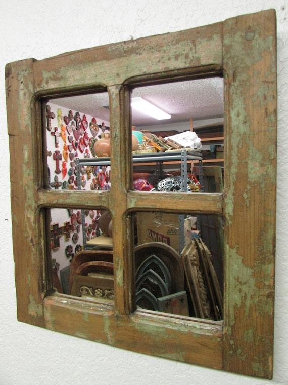 Antique old door rustic mirror mexican