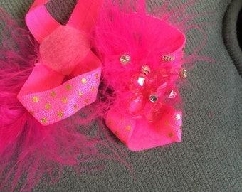 Hot Pink Baby Barefoot Sandal