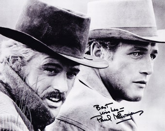 Rare, Authentic Butch Cassidy and the Sundance Kid Robert Redford and Paul Newman Signed Autographed 8x10 Photo with COA, Cowboy, Western