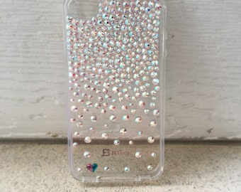 AB Swarovski Crystallized Full Ombre Clear Cell Phone Case