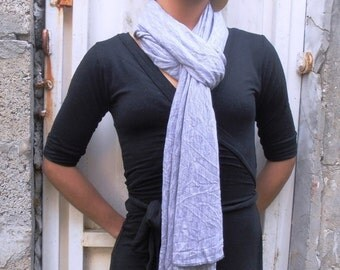 Lilac scarf, soft jersey scarf, long scarf, shawl size, plain scarf, fabric scarf, four seasons, women accessories