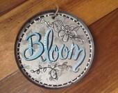 Bloom galvanized tin garden sign