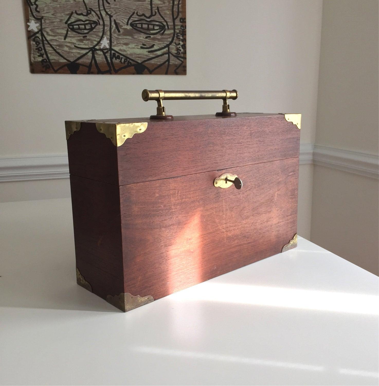 Vintage Wood Tantalus 4 Slot Decanter Liquor Bottle Wine