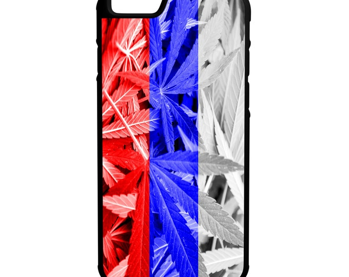 Russia Weed Flag iPhone Galaxy Note LG HTC Hybrid Rubber Protective Case Russian