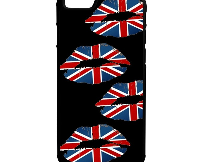 United Kingdom Flag lips iPhone Galaxy Note LG HTC Hybrid Rubber Protective Case England