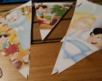 Pinocchio Christmas Book Bunting