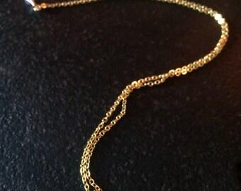 14k GF Blue Chalcedony Necklace