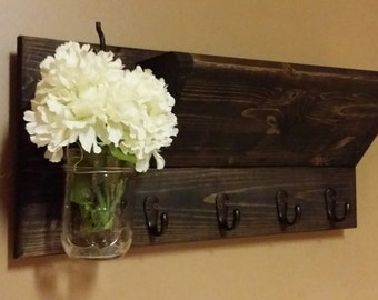 Rustic Home Decor, Mail Holder,Home Decor, Wood  Mail Organizer, Key Holder, key rack House warming gift, Home and Living, Gift for her