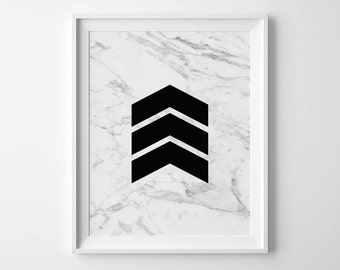 CHEVRON, black chevron, Marble print, Marble download, Instant Download, 8x10, 11x14, Printable marble, Typography, white marble