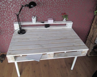 Desk * range table * from well-traveled industrial pallet *.