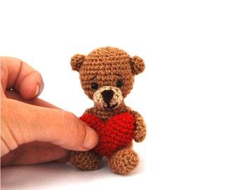 crochet koala Valentines little koala bear amigurumi