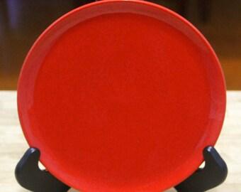 Vintage  1970's Waechtersbach W. Germany' Bread  Plate , Red Glaze