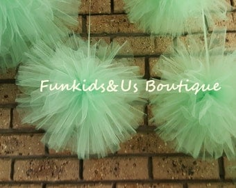 Custom Color Tulle Pompoms- Wedding party decoration - Birthday Party pom pom decoration